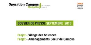 Dossier de Presse Village des Sciences et Aménagements Coeur de Campus